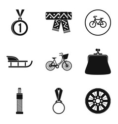 Women sport icons set simple style vector