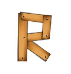 Wooden type r vector