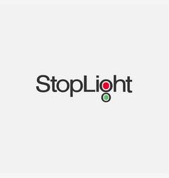 word mark stoplight logo template vector image