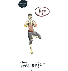 Yoga tree pose vector
