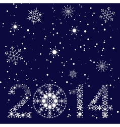 2014 New year card vector image