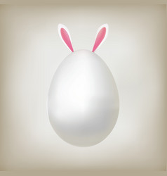 easter rabbit eggs vector image