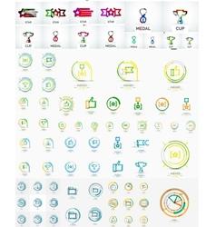 mega set of linear stamp logos vector image vector image