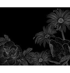 Sketched Floral Background vector image vector image