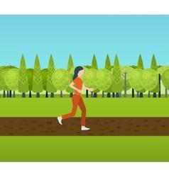Sport woman run fitness girl jogging vector image vector image
