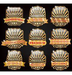 badge design set vector image vector image