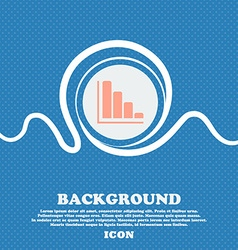 Infographic icon sign Blue and white abstract vector image vector image