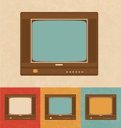 Old Television vector image vector image