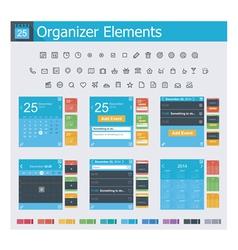 Organizer elements vector image vector image