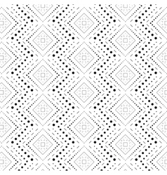 Rhombus a dash monochrome seamless pattern vector image