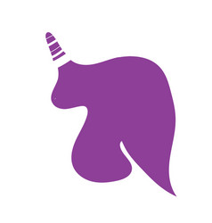 unicorn or horse logo template for print vector image vector image