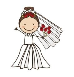 bride cartoon icon image vector image vector image
