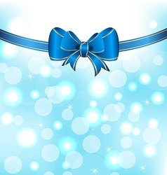 Christmas elegant packing with bow vector image vector image