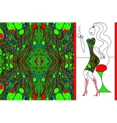 green marbled fabric for woman dress vector image