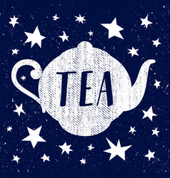 hand drawn sketch of tea cup with star vector image vector image