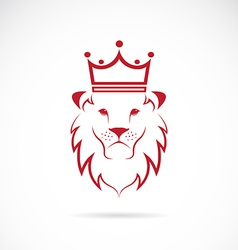 image of an lion crowned vector image