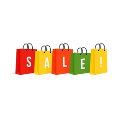 Shopping Bags Sale Isolated On White vector image vector image