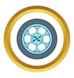 Wheel from racing car icon vector image vector image