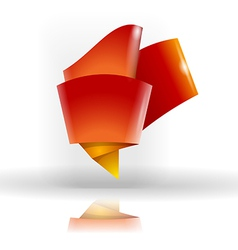 Abstract origami symbol vector image