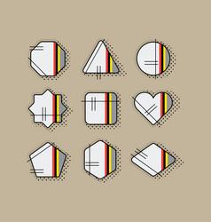 abstract retro pop art geometrical stripe icon set vector image vector image