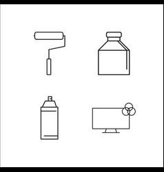design and studio simple linear icon setsimple vector image vector image