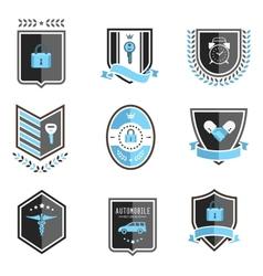Handshake insurance badges vector image