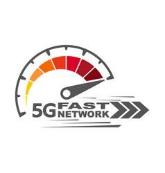 5g fast network speed internet 5g concept vector