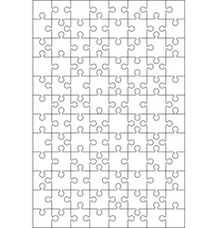 96 jigzaw puzzle vector image
