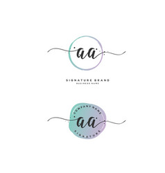 A a initial letter handwriting and signature logo vector