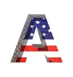 American cutted figure a Paste to any background vector