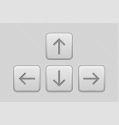 Arrows keypad gray ui elements vector
