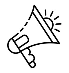 audio bullhorn icon outline style vector image