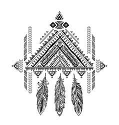 Aztec Mexican tribal ornament dream catcher vector