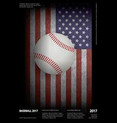 baseball championship sport poster vector image