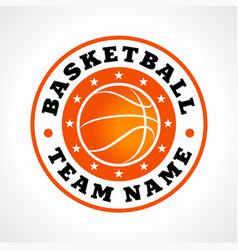 Basketball team logo vector