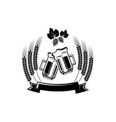 beer logo - emblem brewery vector image
