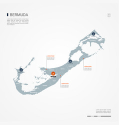 bermuda infographic map vector image