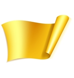 Big gold ribbon vector
