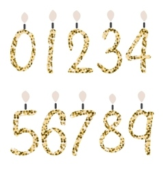Birthday celebration number glitter candles vector