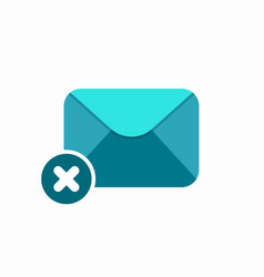block cross delete email envelope error mail icon vector image vector image