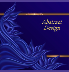 Blue satin decorative background for cover poster vector