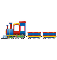 blue train with two carts vector image