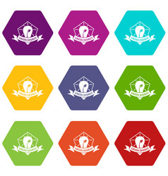 bulb eco energy icons set 9 vector image