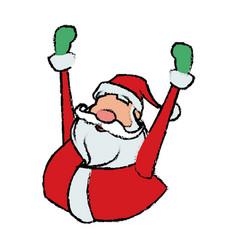 Cartoon santa claus cheerful for your christmas vector