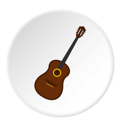 Charango music instrument icon circle vector