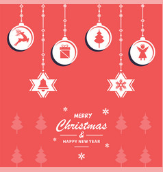 christmas decoration depen vector image