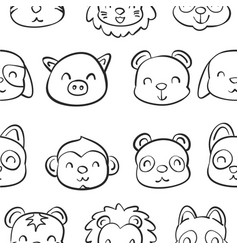 collection stock of animal doodle hand draw vector image