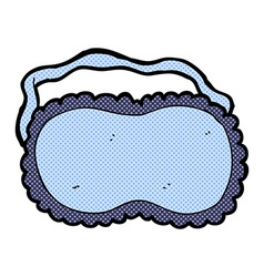 comic cartoon sleeping mask vector image