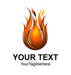 concept abstract design flame fire ball logo vector image