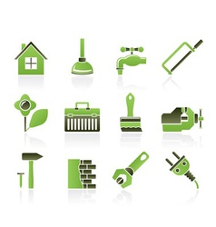 construction and diy icons vector image